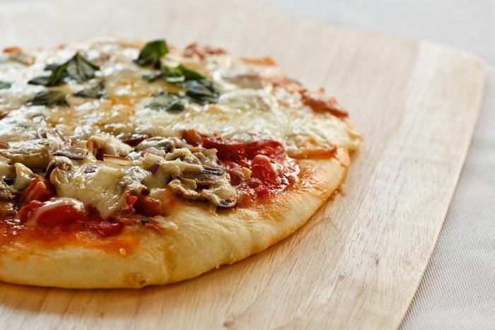 Une recette de pizza-minute