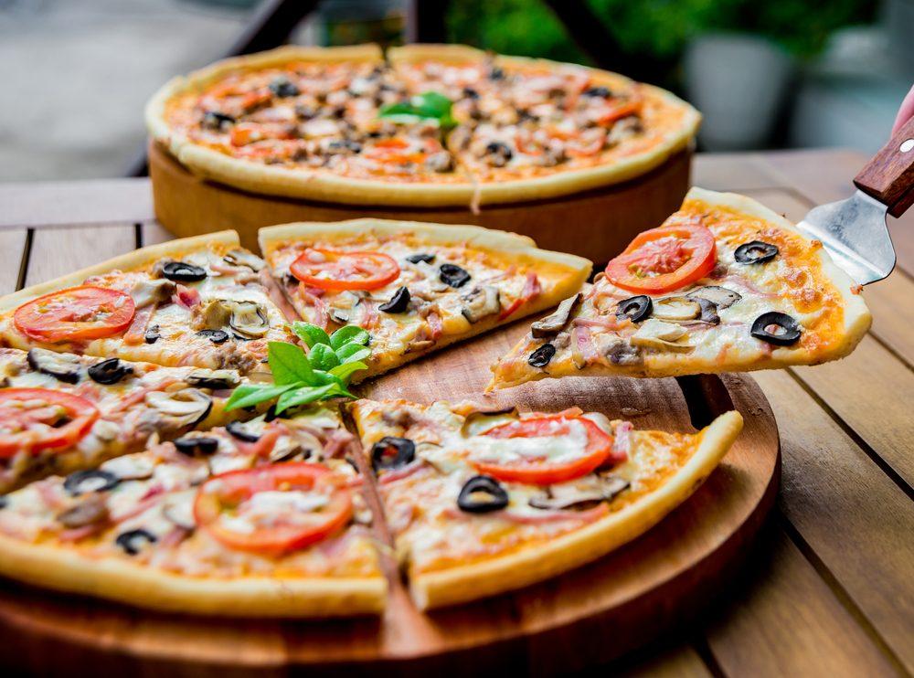 Une recette de pizza aux olives