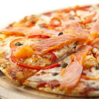 Pizzas saumon et yogourt
