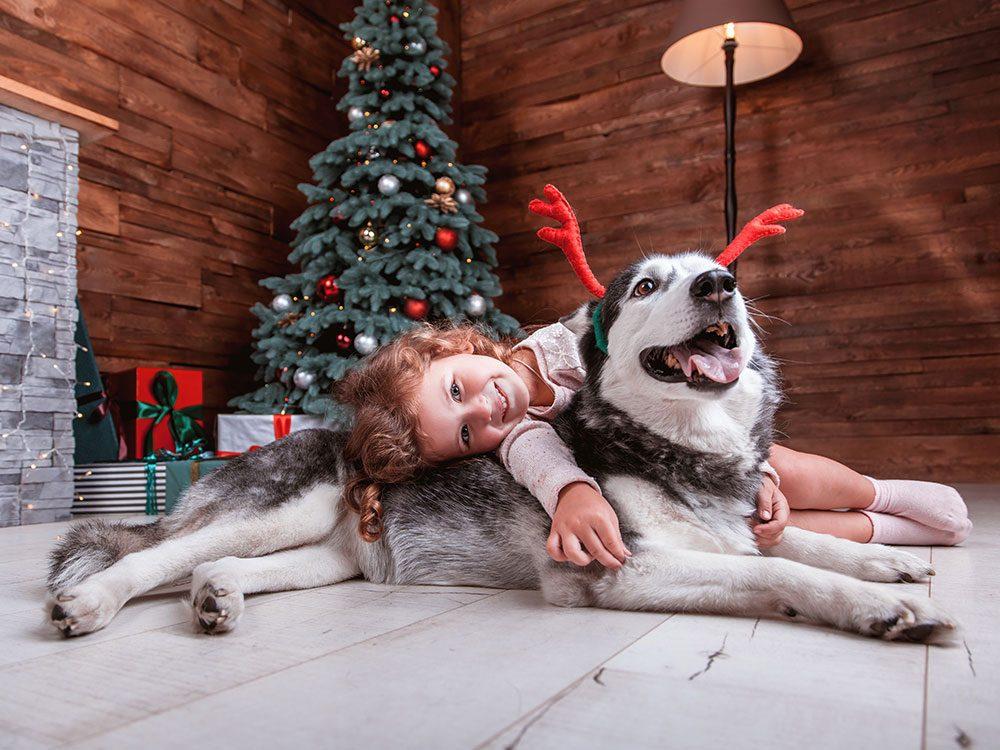Surveillez votre animaux de compagnie en présence d'enfants.