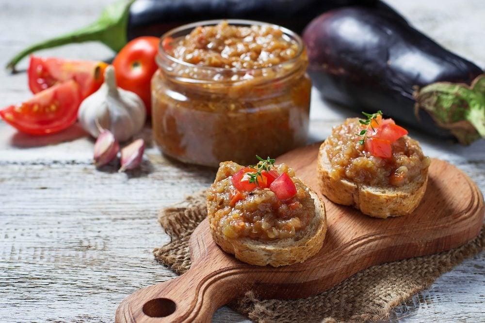 Une recette de caviar d'aubergine