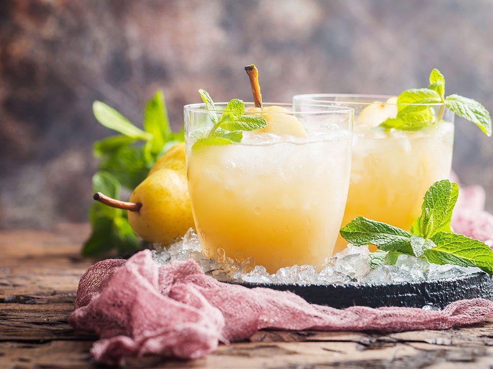 Cocktail à la poire.