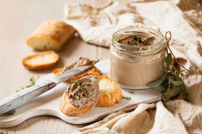 Une recette de crostinis aux foies de volaille