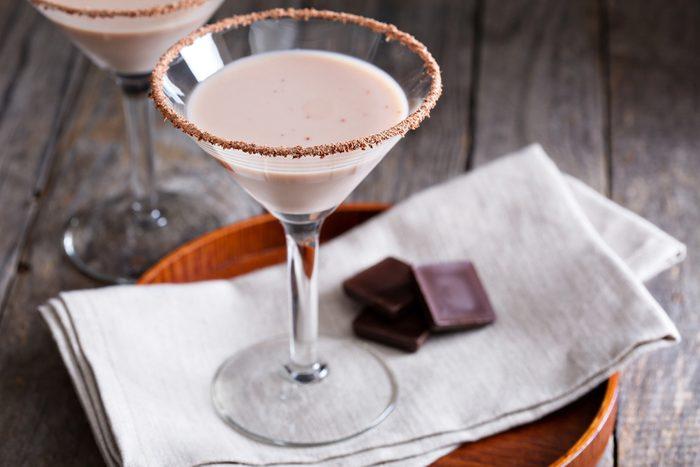 Une recette de martini au chocolat et au café