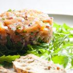 Tartare de saumon et pommes à l'érable