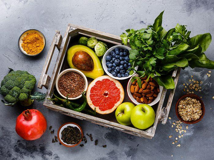 Augmenter les antioxydants une une résolution santé.
