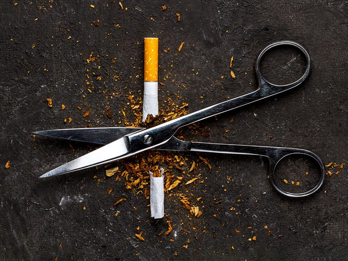Arrêter de fumer est une résolution santé.
