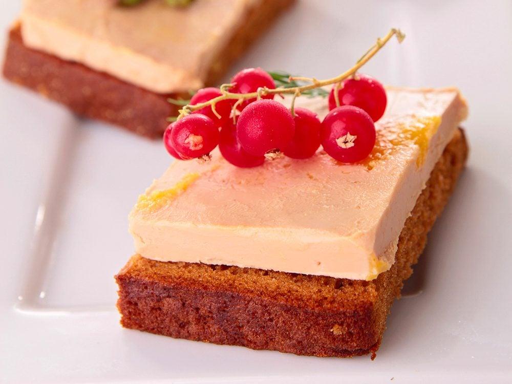 Recette pour la Saint-Valentin: foie gras au pain d'épices.