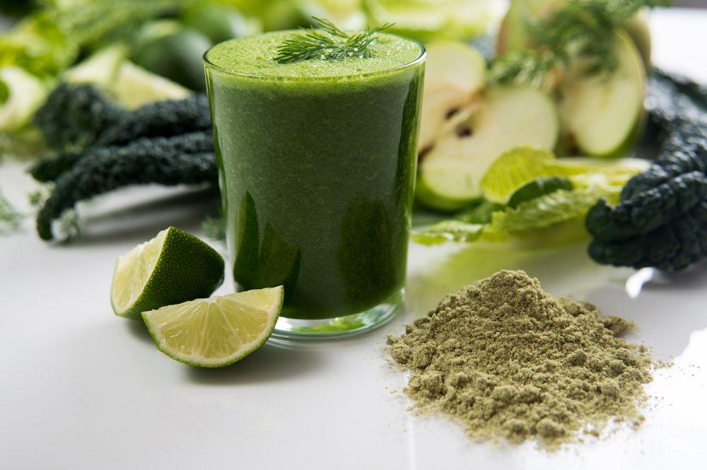 Un smoothie aux algues pour l'entrainement