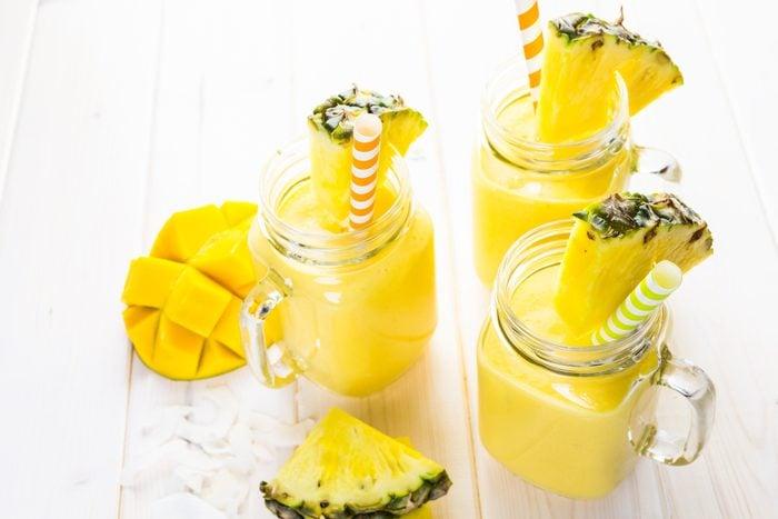 Un smoothie à l'ananas pour l'entrainement