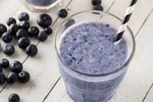 Recette de smoothie santé bleuets et céleri