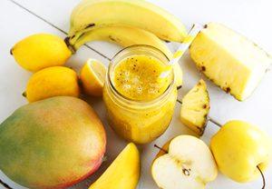 Recette santé de lait frappé banane et mangue