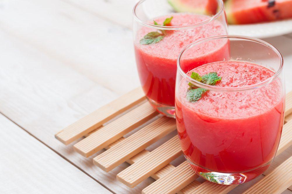 Un smoothie au melon d'eau avant l'entrainement