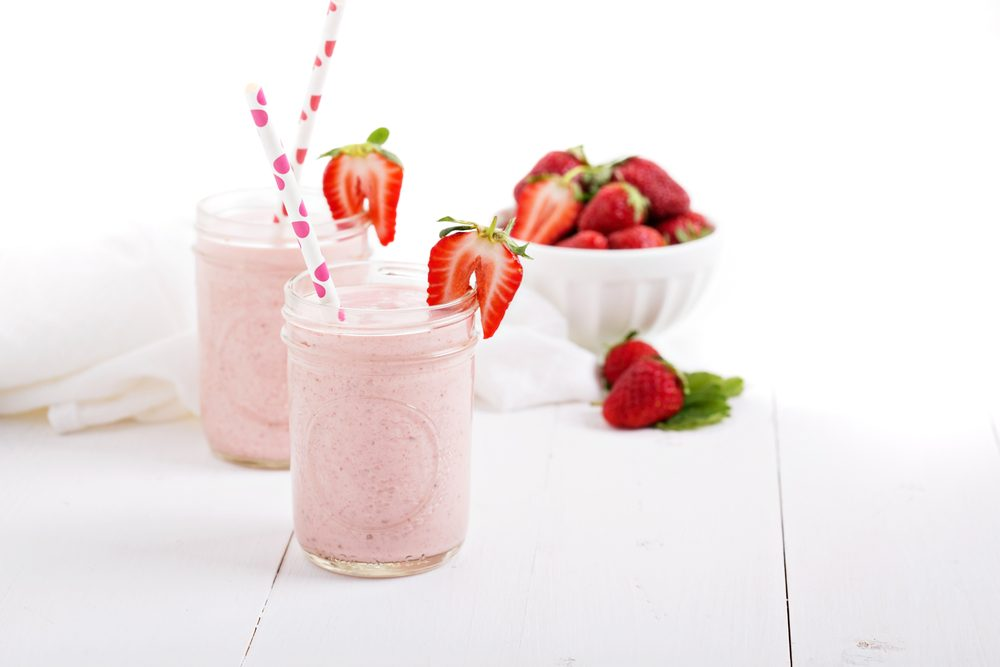 Une recette de smoothie avec du lin et des fraises