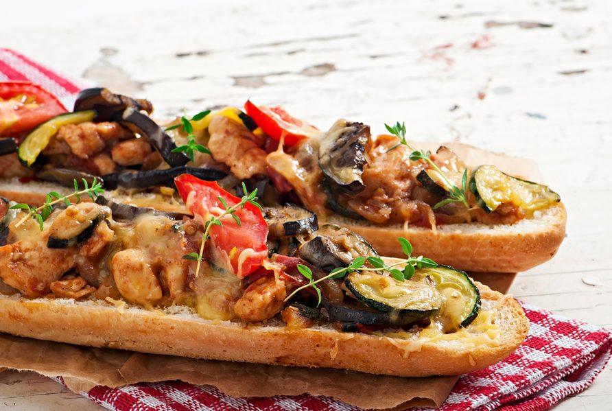 Une recette de sandwich aux légumes grillés