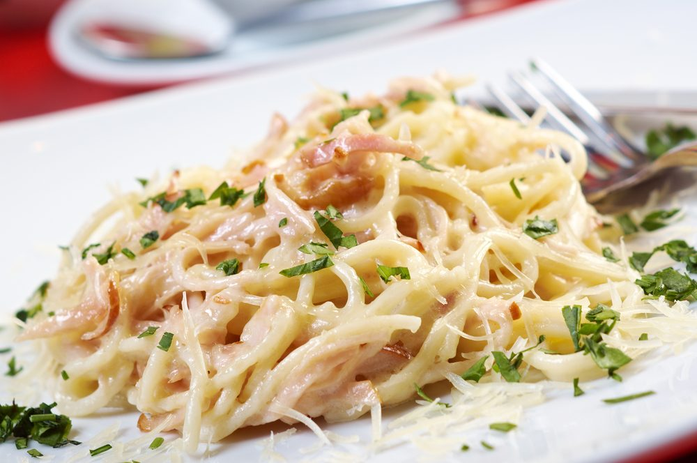 Une recette de spaghetti carbonara