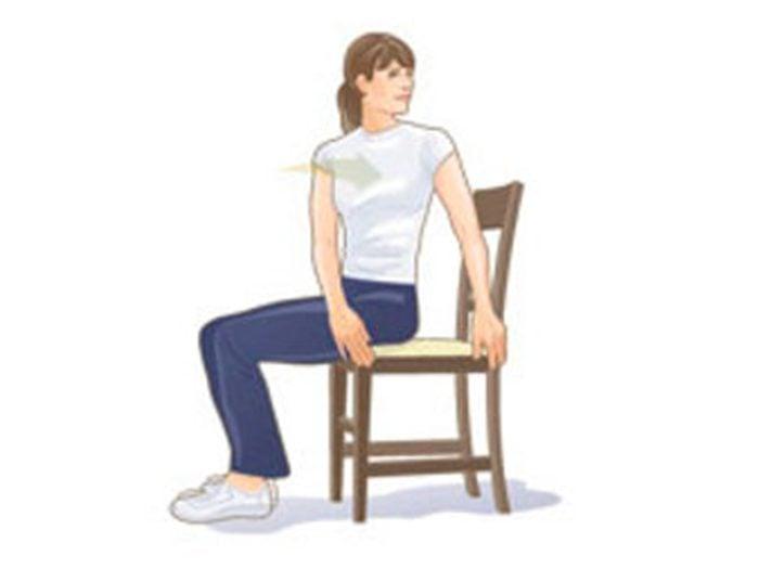 Mal de dos: rotation vers l'arrière.