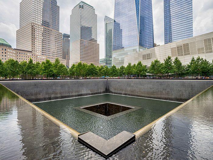 Le quartier des finances et le Mémorial du 11 septembre à New York.