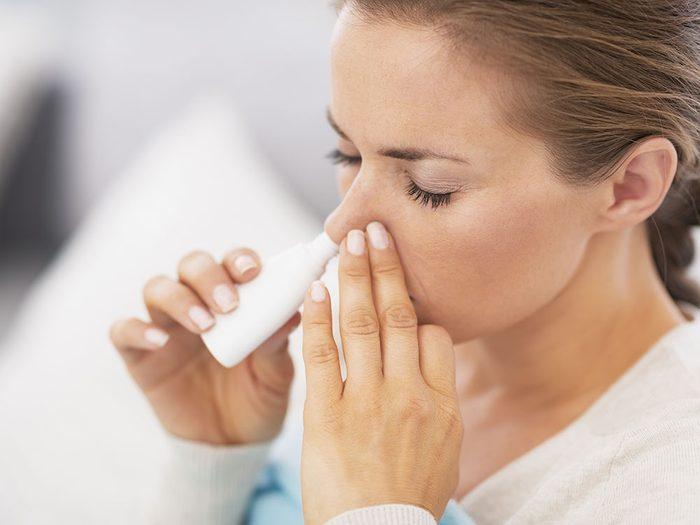 Pour lutter contre les allergies, utilisez une solution saline.
