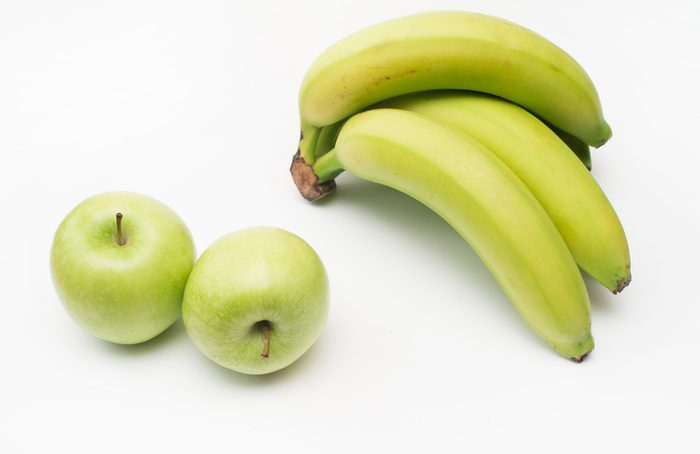 Reniflez la pomme et la banane pour maigrir.