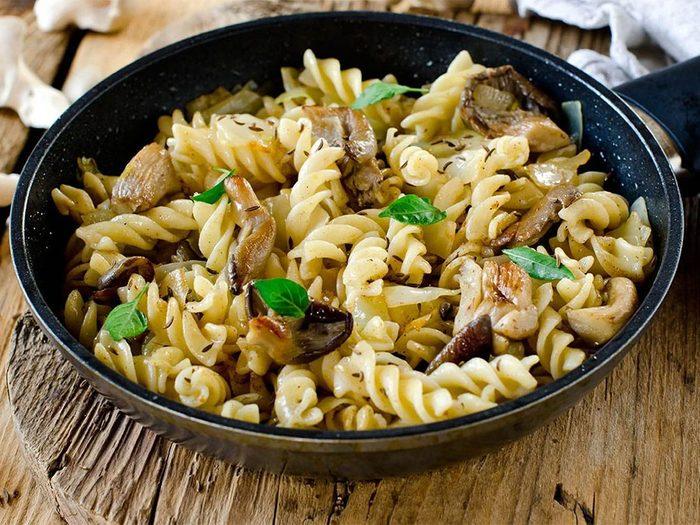 Une recette de gemelli aux champignons portobello pour un lundi sans viande.