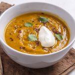 Recette de potage végétarien aux carottes et lentilles