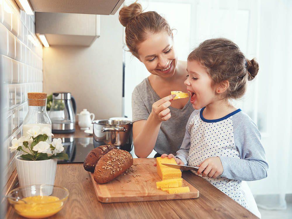 Les produits laitiers sont une bonne source de protéines.