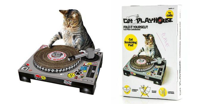 Une table tournante pour les chats.