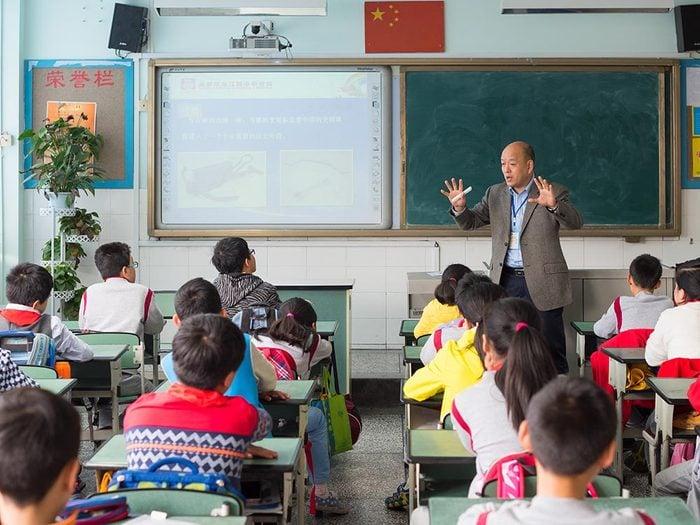 Voici le calendrier scolaire en Chine.