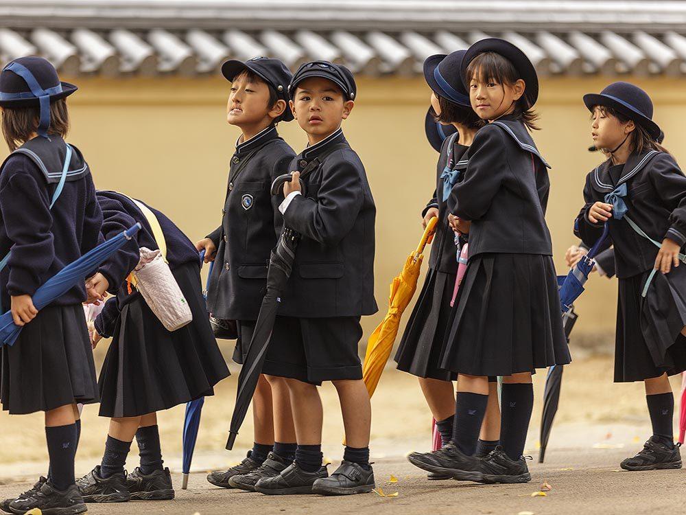 Voici le calendrier scolaire au Japon.