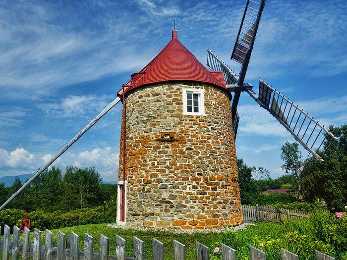 Les moulins de l'Isle aux Coudres datent du 18e siècle.