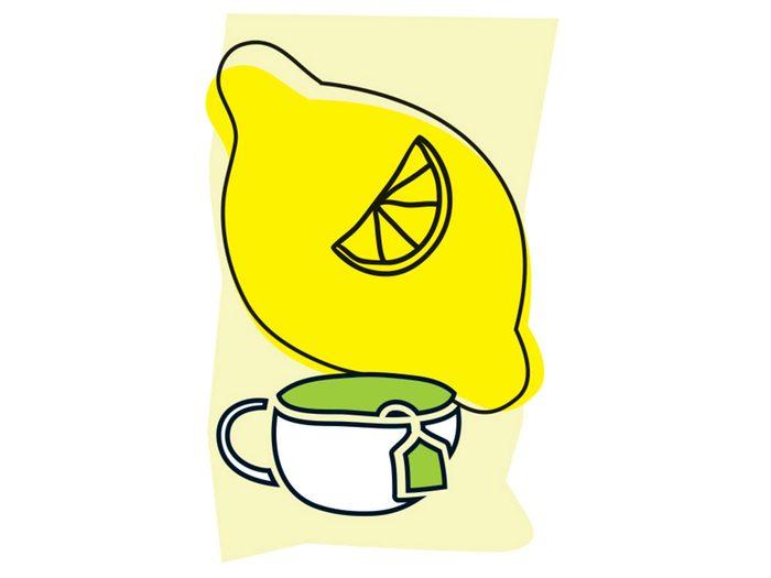 Thé vert et citron font partie des combinaisons alimentaires efficaces.