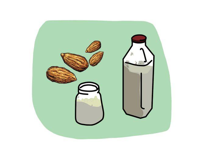 Kéfir et amandes font partie des combinaisons alimentaires efficaces.