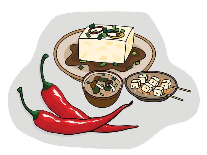 Tofu et piment jalapeño font partie des combinaisons alimentaires efficaces.