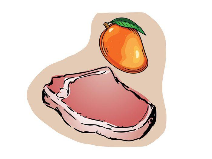Porc et mangue font partie des combinaisons alimentaires efficaces.