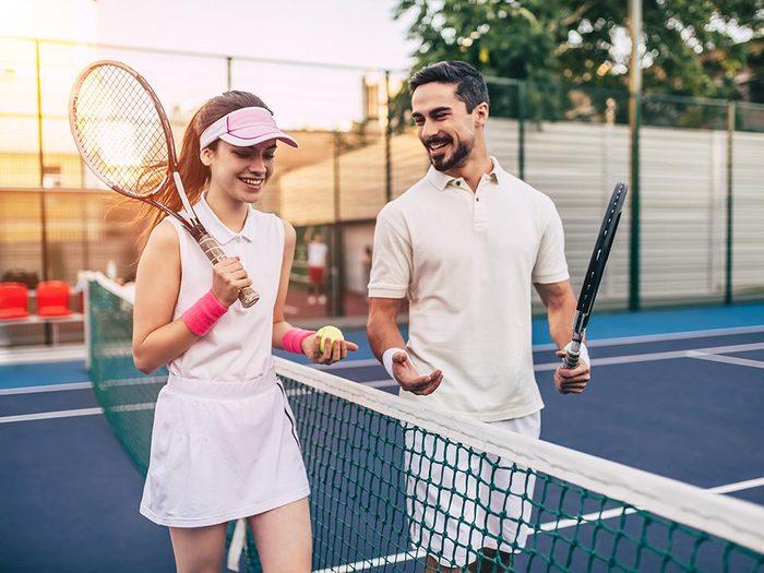Sport en famille: n'en mettez pas plein la vue.