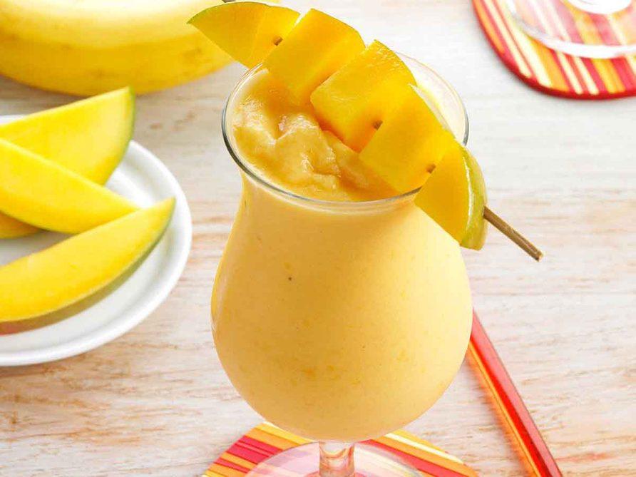 Recette de smoothie à la mangue.
