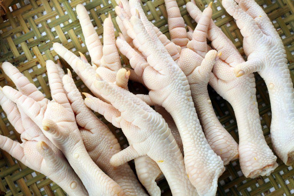 Les pattes de poulet, un aliment des plus étranges