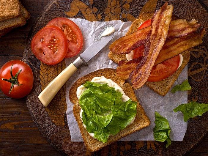 Le sandwich BLT façon Plaisirs Santé.