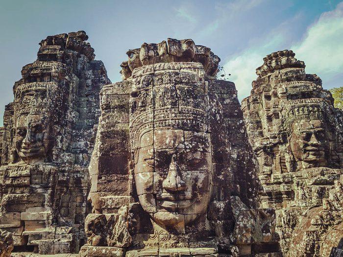 La ville abandonnée de Angkor au Cambodge.