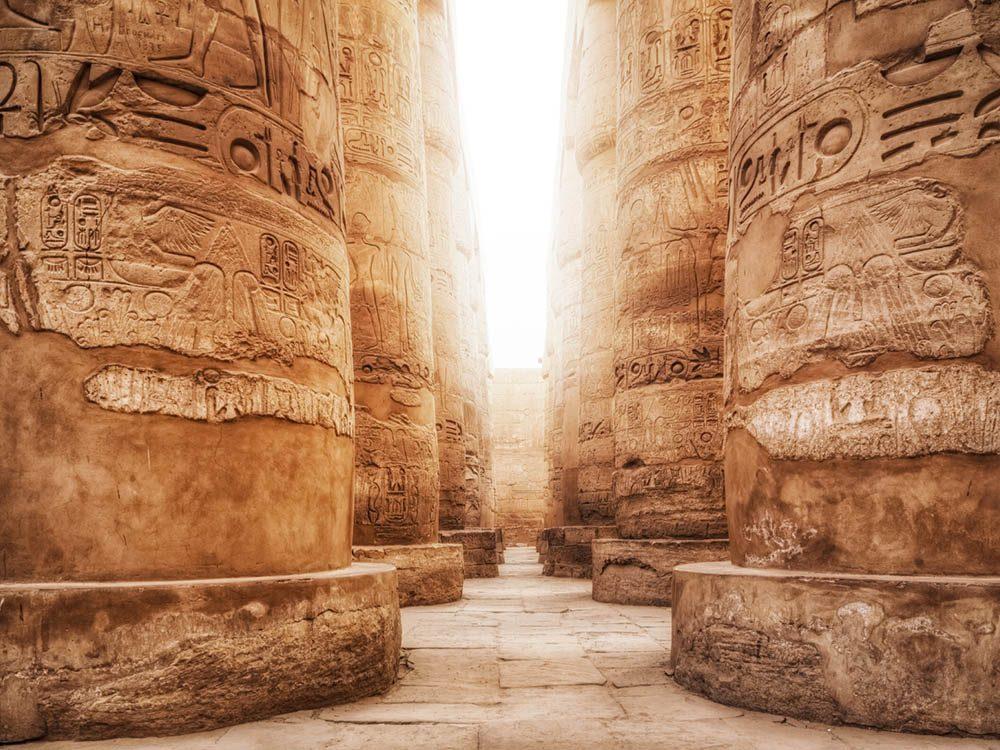 La ville abandonnée de Thèbes en Egypte