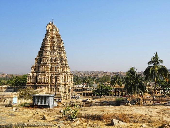 La ville abandonnée de Vijayanagara en Inde.