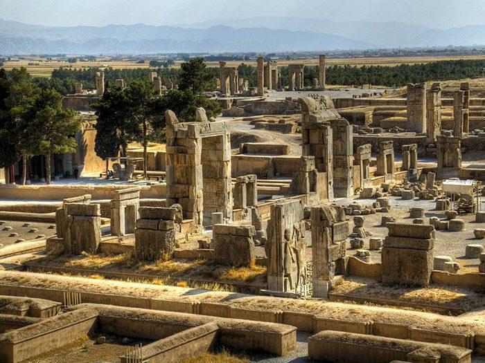La ville abandonnée de Persépolis en Iran.