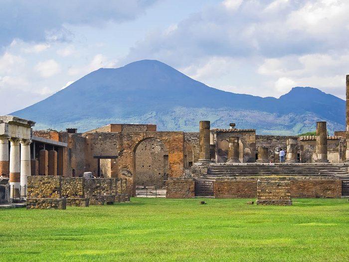 La ville abandonnée de Pompeii en Italie.