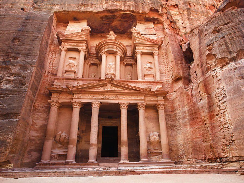 La ville abandonnée de Pétra en Jordanie.