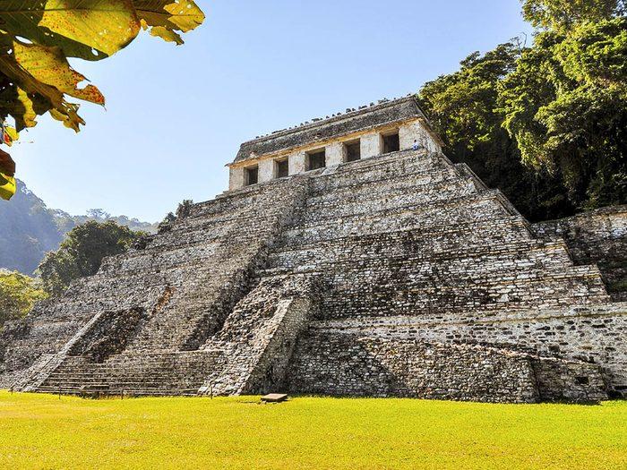 La ville abandonnée de Palenque au Mexique.