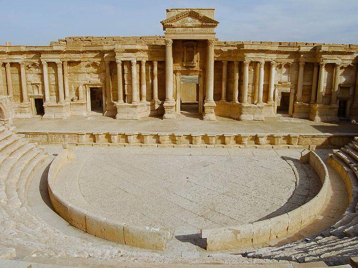 La ville abandonnée de Palmyre en Syrie.