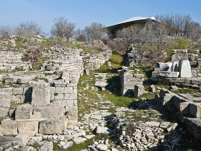 La ville abandonnée de Troie en Turquie.