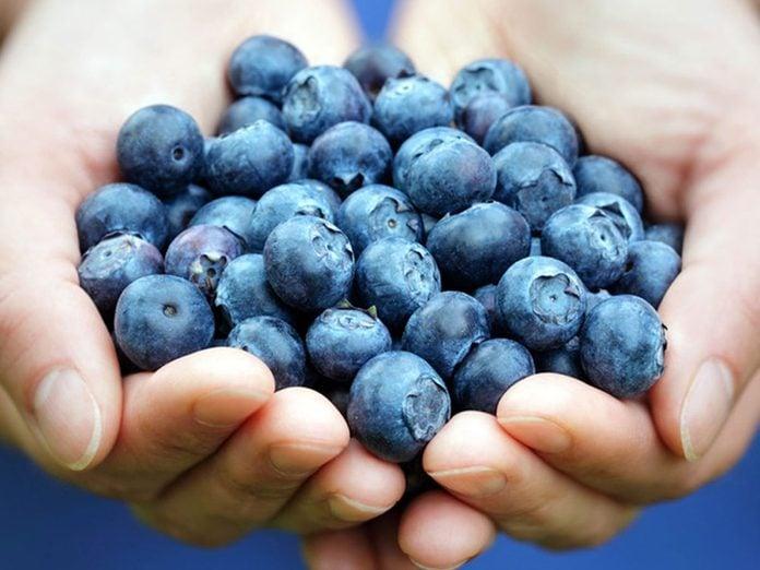 L'un des bienfaits des bleuets est de combattre les signes du vieillissement.