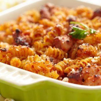 Macaroni au fromage et aux champignons